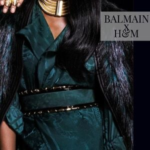 COMING SOON! BALMAIN x H&M RARE Green suede belt